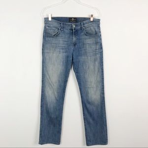 7FAMK Luxe Performance The Straight Jeans Size 32